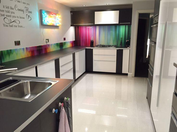 Kitchen Design With Black Tiles