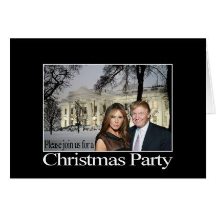 A Christmas invitation from Donald and Melania - holiday card diy personalize design template cyo cards idea