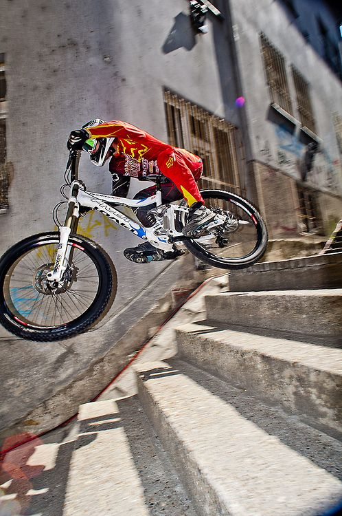 urban downhill is always impressive