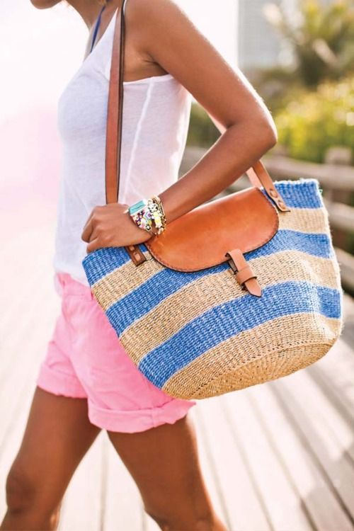 93 best images about Beach - Bags on Pinterest | Straw beach bags ...