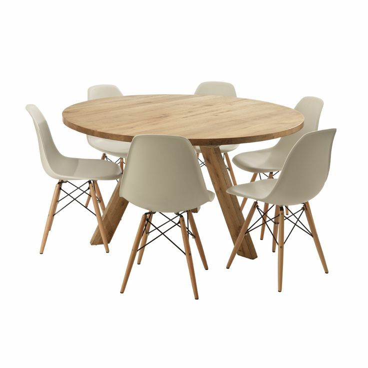 Dining Room Concept With Round Dining Table For 6