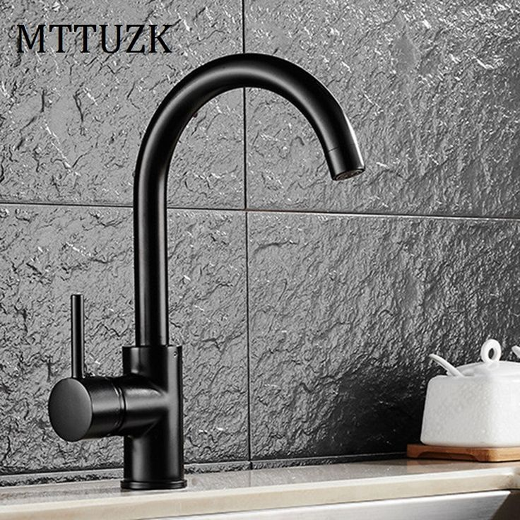 Free Shipping deck mounted 360 degree rotating copper Black kitchen faucet hot and cold water vegetables basin sink mixer tap