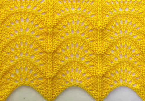 Patrones que hacen punto libre - patrón ondulado que hace punto de la puntada