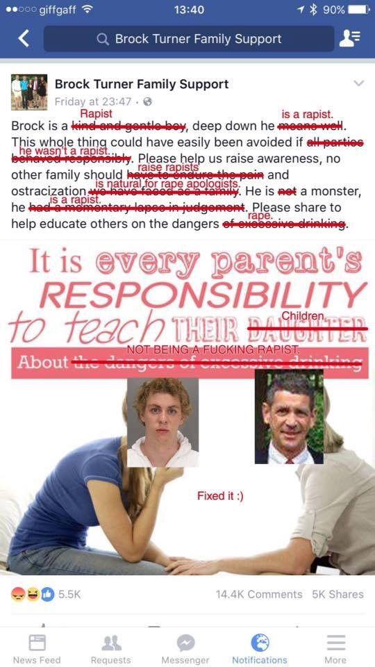 Fixed it :) Brock Turner, Stanford rape case