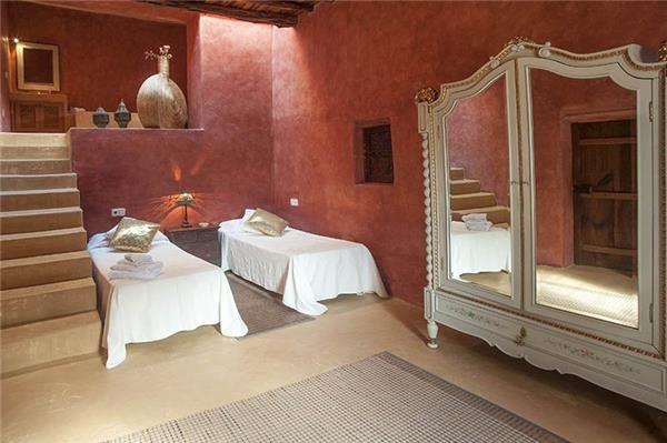 Cosy bedroom in Sant Antoni de Portmany, Ibiza, Spain.
