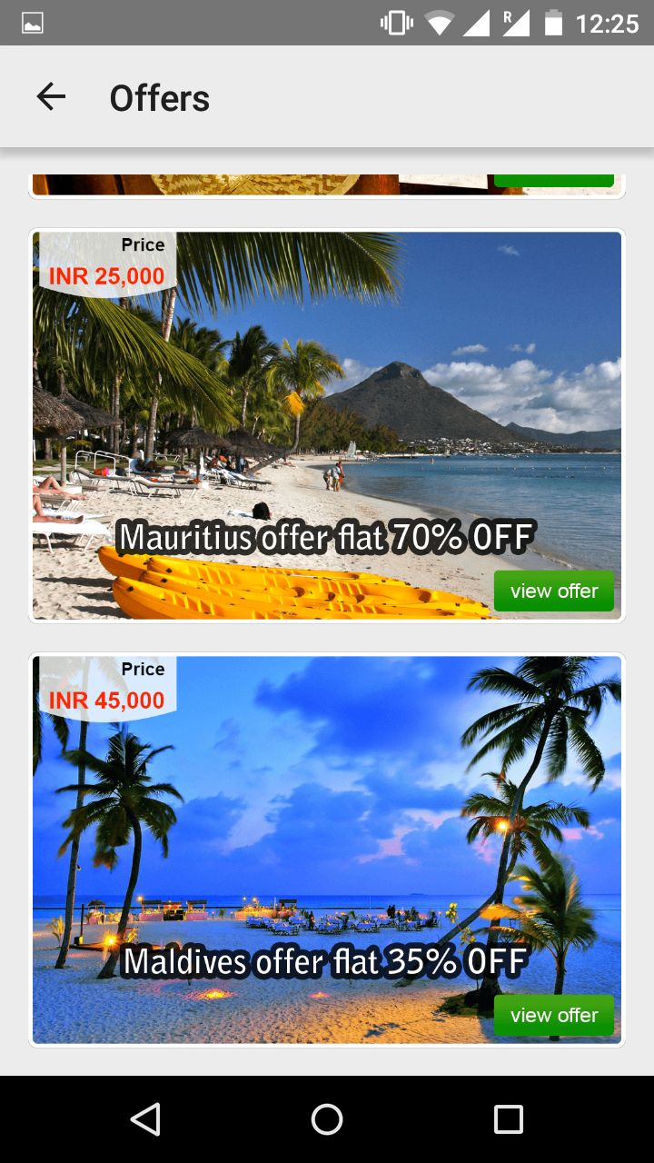 Flat 70% Off om #mauritius packages and 35% Off on #maldives package with #andriodapp #app