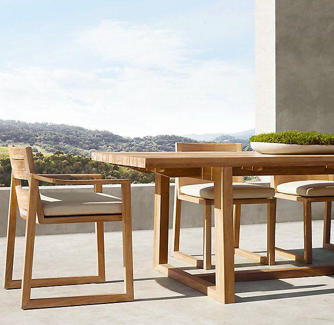 Sebastian Teak Rectangular Dining Table Rectangular Dining Table Teak Outdoor Furniture Sets