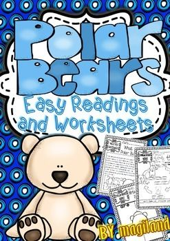 This Thematic Unit contains different sets of Printables including easy reading  passages with facts about Polar Bears :What are Polar Bears?What do Polar Bears eat?The Polar Bear BodyThe Polar Bear Life Cycle   The stages of a Polar bear divided into 4 parts with illustrations (baby cub  young cub  young polar bear and adult polar bear).