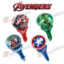 30*50 cm 40 unids/lote hoja hincha super hero avengers hulk capitán américa de dibujos animados globo de helio juguetes para bebés globos(China (Mainland))