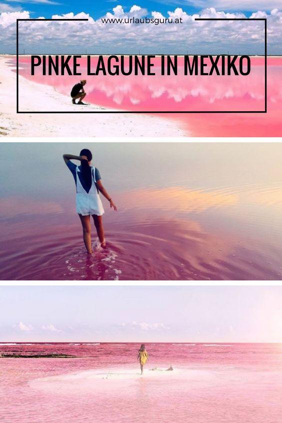 Pink Lagoon in Mexico – Breathtaking natural phenomenon