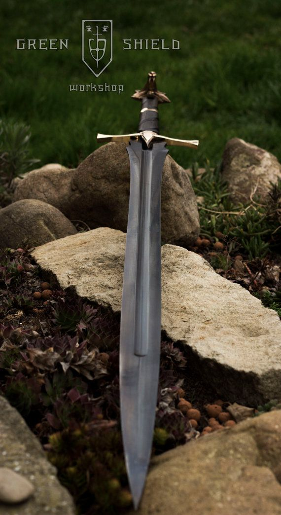 Wolf sword- Green shield design Vol 2 (these are not swords from witcher, it is…