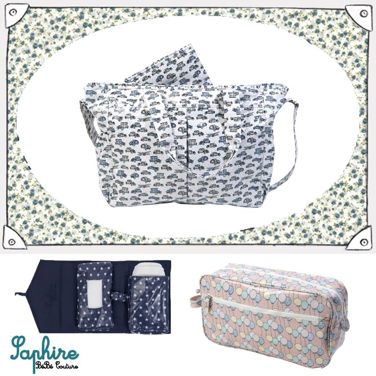 Changing bags and travel accessories by Saphire Bebe Couture! http://babyglitter.gr/t/brands/saphire-bebe-couture/
