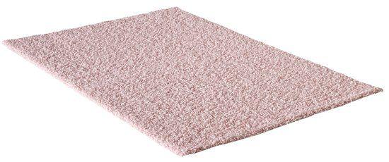Vloerkleed Licht Roze Effen Hoogpolig Tapijt Loca - 160x230cm