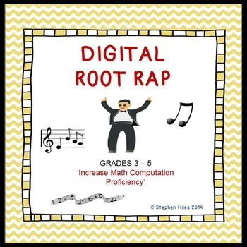Empower your students to be highly proficient in mathematics computation.  Teach them the power of Digital Roots!  This rap presentation is a 'how to' resource in determining the digital roots of numbers. Instruction suited for third graders and up!  Included in this packet is the following materials: *digital roots mp3 sound recording*digital roots video mp4*written presentation.