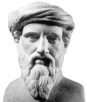 Pitágoras de Samos fue un filósofo y matemático griego considerado el primer matemático puro. Contribuyó de manera significativa en el avance de la matemática helénica, la geometría y la aritmética.
