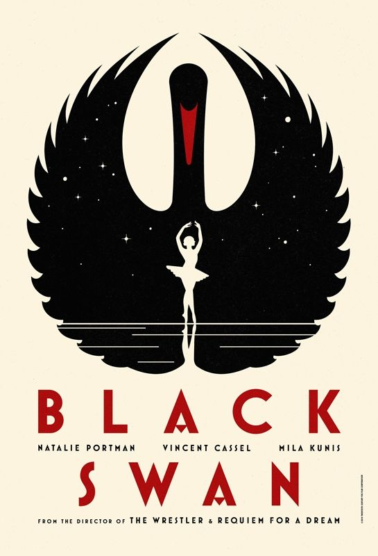 "Gorgeous promotional poster for the upcoming film, ""Black Swan.""  Definitely on my must-see movie list..."