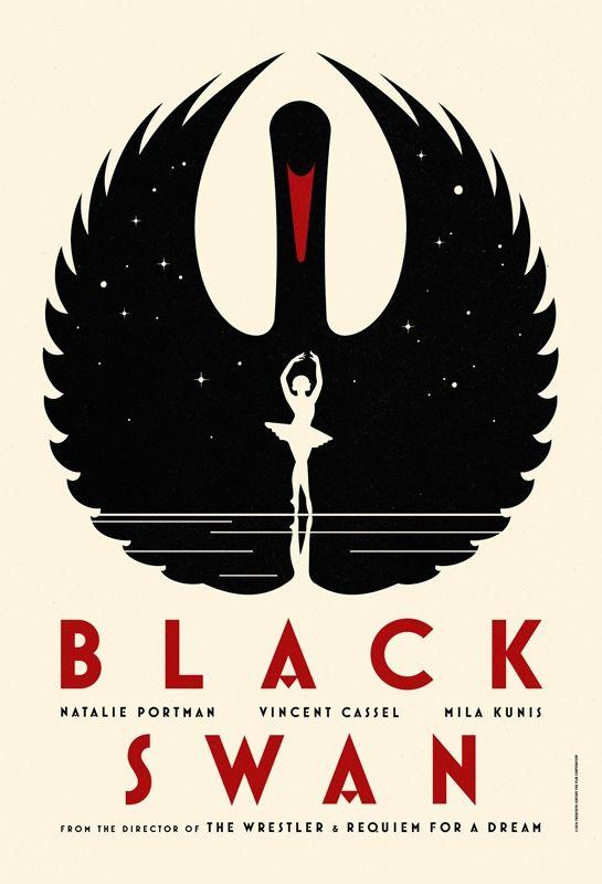 Affiche minimaliste black swan