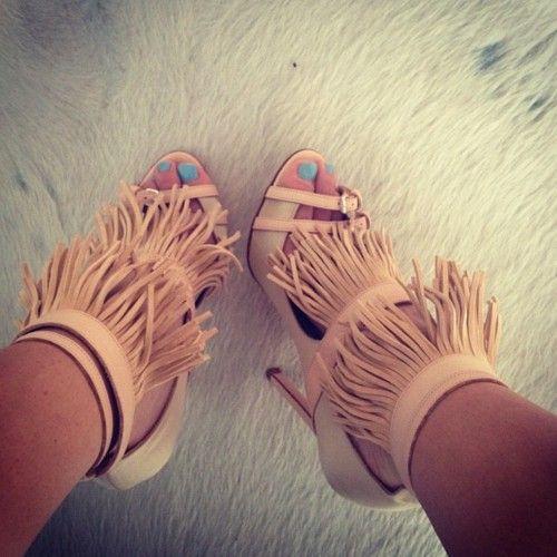 New shooz. Do ya like em?Killers Heels, Fashion Shoes, Leopards Heels, Shoes Games, Fringes Heels, Wedges Shoes, Hot Bikini, New Shoes, Style Fashion