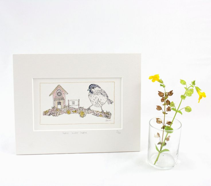 This is our original illustration, home sweet home, created into a giclee print. Available to purchase now from our etsy shop.