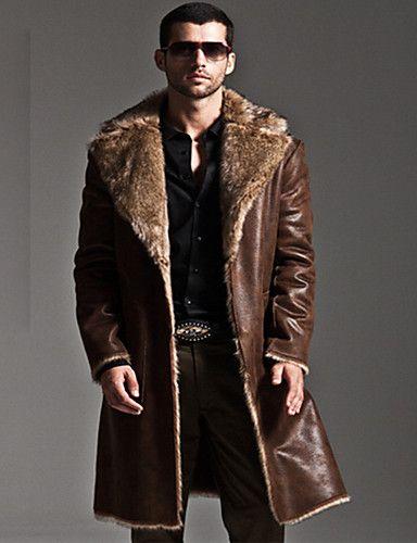 Abrigo de piel de hombre
