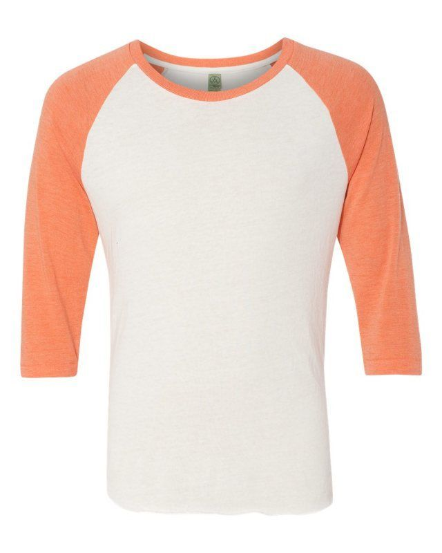 57aa672c0d A sporty raglan baseball tee with authentic retro style and classic  color-blocked sleeves.  Alternative Eco True  Orange  Eco-Jersey  Baseball   T-Shirt