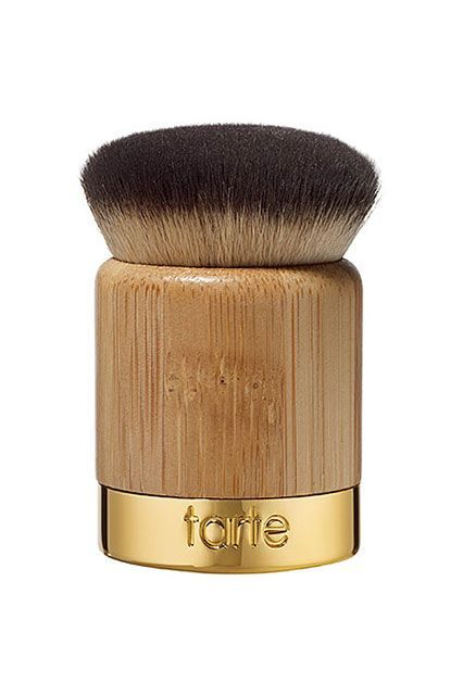 "To apply her foundation, Jenner reaches for this Kabuki brush from Tarte. ""It's my favorite,"" she says. Tarte Cosmetics Airbuki Bamboo Powder Foundation Brush, $28, available at Tarte. #refinery29 http://www.refinery29.com/2015/11/98255/kylie-jenner-makeup-routine-video#slide-2"