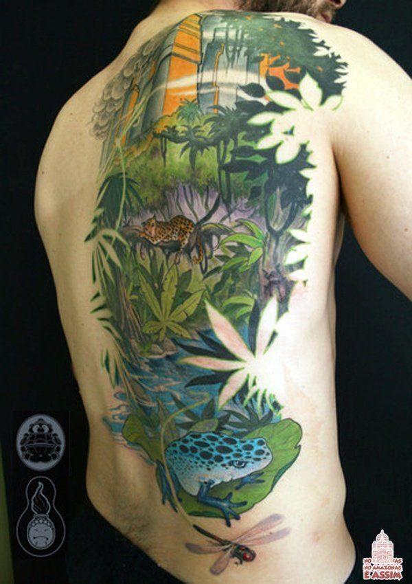 Jungle Tattoo Ideas : jungle, tattoo, ideas, Rainforest, Tattoo, Ideas, Jungle, Tattoo,, Tattoos,, Coloring