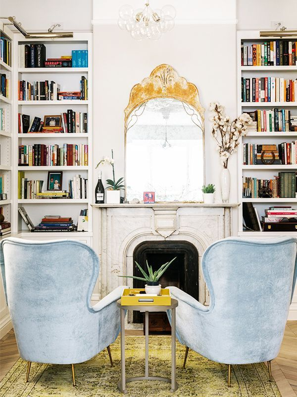 Living Room | Interior Design | Home Decor | Armchairs | Blue Sofa