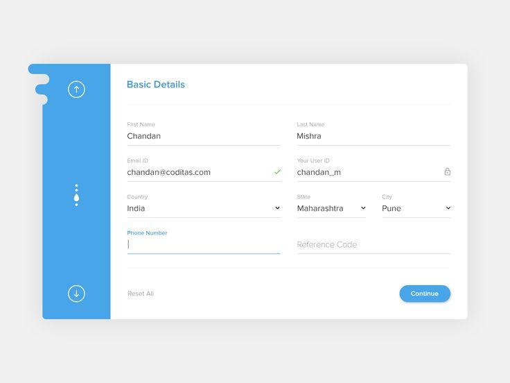 15 best UI - Registration images on Pinterest App login, Android - registration forms