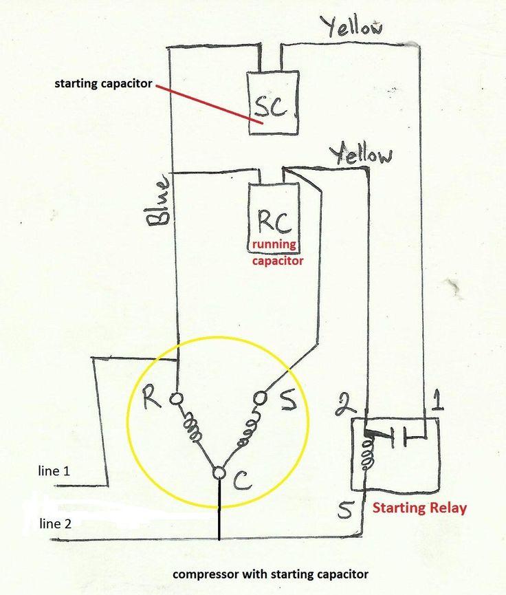 Unique Single Phase Capacitor Start, Run Capacitor Wiring Diagram