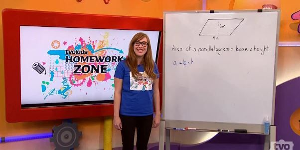 Math Video - Grade 6 -  Formula for calculating the area of a parallelogram. #tvokids #area #measurement #math