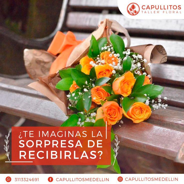Arreglo floral. Taller floral Capullitos en Medellín - Colombia.