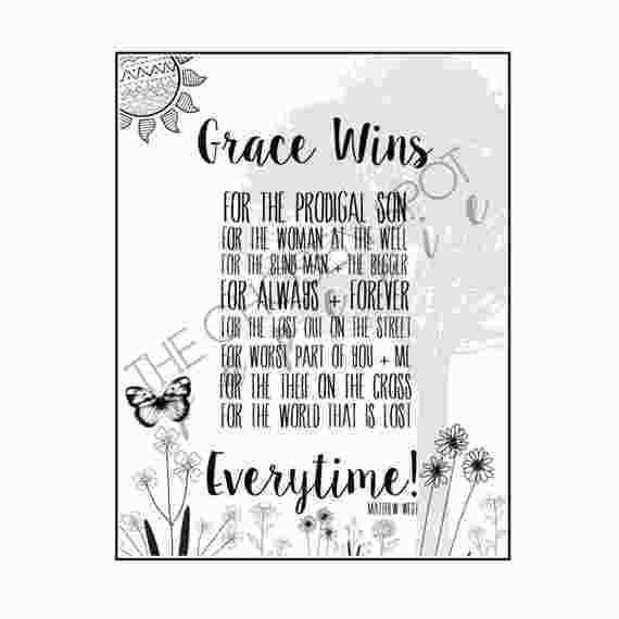 Coloring Book Song Lyrics Coloring Page Christian Song Grace Wins Matthew West 79664 Christian Songs Christian Song Lyrics Quotes Christian Song Lyrics