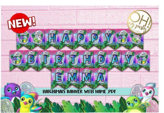 Hatchimals BANNER Birthday Hatchimal Party Supplies