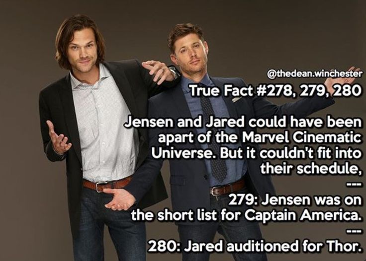 OMG JENSEN WOULD HAVE MADE AN AMAZING CAPTAIN AMERICA AND JARED AS THOR