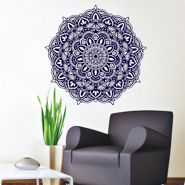 Free Shipping Wall Stickers Mandala Meditation Yoga Wall Decals Buddha Om Symbol Removable Home Living Room Art DecorationY 344-in Wall Stickers from Home & Garden on Aliexpress.com | Alibaba Group