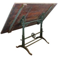 Antique American Drafting Table