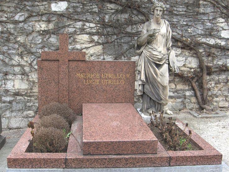 Utrillo - Tombe - Cimetière Saint-Vincent (Paris) - Утрилло, Морис — Википедия. Надгробие на могиле Мориса Утрилло на монмартрском кладбище Сен-Венсан.