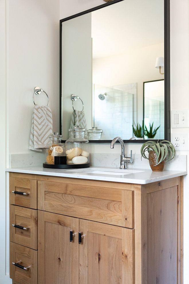 Mid Century Modern Farmhouse Wood Bathroom Vanity Dark Wood Bathroom Bathroom Vanity Designs