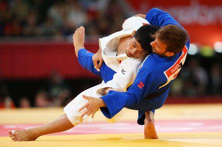 Hiroaki Hiraoka of Japan,the silver medalist in the men's -60 kg Judo London 2012
