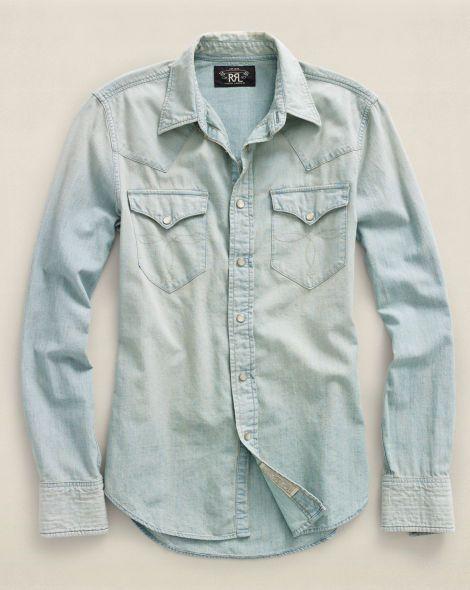 Chambray Buffalo Western Shirt - RRL Long-Sleeve - RalphLauren.com