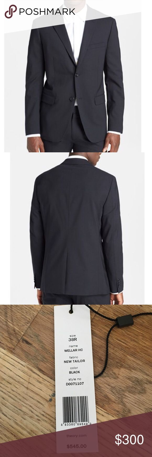 Theory Wellar men's suit jacket Stylist Sale. Worn only once. Theory Wellar HC New Tailor Black Suit Jacket. Theory Suits & Blazers Suits