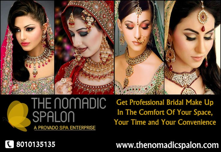 The #Nomadic #Spalon offers Bridal makeup services at your doorstep. To make your life easy and relaxed, we pride in providing professional Bridal Make-up in the comfort of your space, your time and your convenience. Our #Spalonistas are awaiting your call...call us on 8010135135!!!!!!www.thenomadicspalon.com