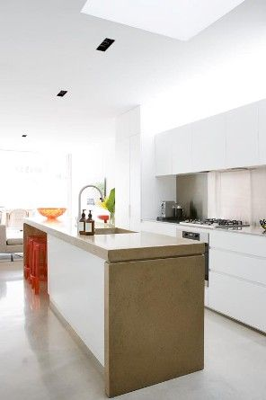 T01 Architecture - Projects - Paddington - kitchen - modern - contemporary - kitchen island natural palette kitchen sink