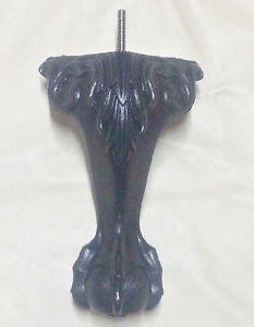 Furniture Leg Feet Chair Couch Ottoman Sofa 0800 (4 leg) Black Plastic Ball Claw