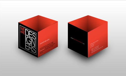 Cubed Business cards. Nice idea but dunno about practicalness...