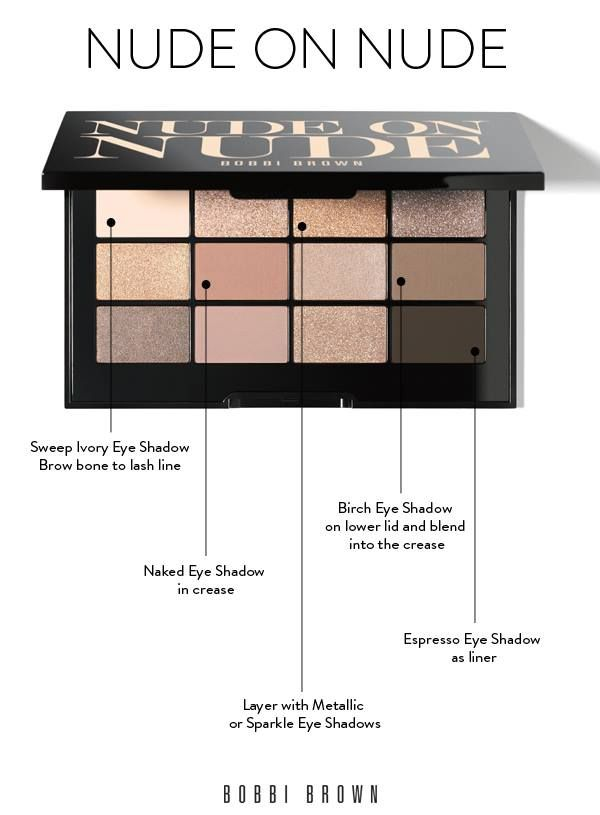 Love this Nude on Nude Eyeshadow Palette by Bobbi Brown - learn how the make-up pros use it with this simple tutorial!  http://rstyle.me/n/p2gvrnyg6