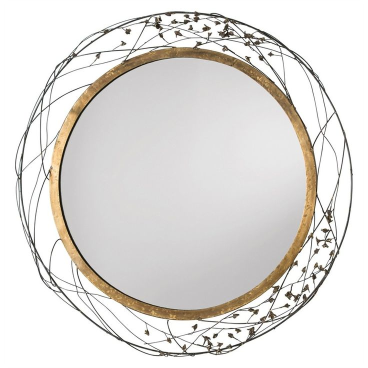 Mariposa Mirror By Laura Kirar  Contemporary, Metal, Mirror, Mirror by Arteriors