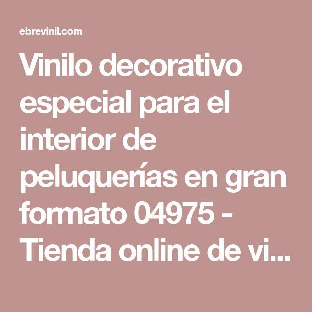 Vinilo decorativo especial para el interior de peluquerías en gran formato 04975 - Tienda online de vinilos decorativos, stickers, wall art, decoración