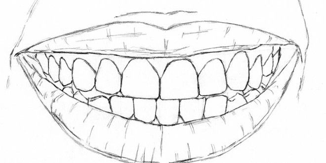 This Childhood Shortcut Will Show You How to Draw Teeth   Let's Draw People